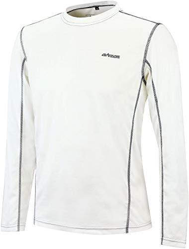 Airtracks T-shirt de course fonctionnel Pro Air à manches longues - Respirant - Séchage rapide. XXXL Blanc.