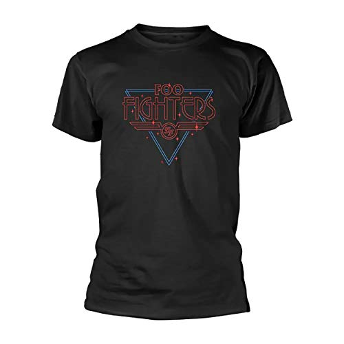 Foo Fighters - Maglietta a Maniche Corte con Logo Tipo luci - Adulti/Unisex (S) (Nero)