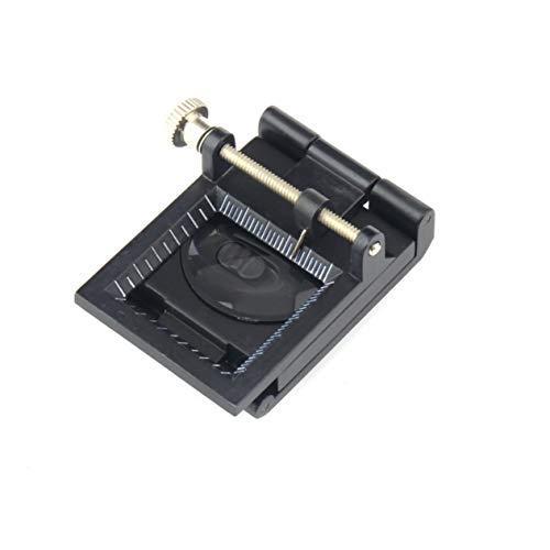 10X Aleación de zinc 2 LED Luz plegable Lupa de vidrio óptico de aumento Telas de escritorio Medida Escala Contador de hilo de coser BCVBFGCXVB (negro)