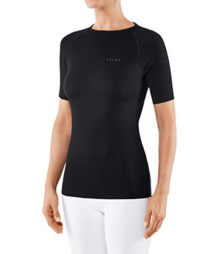 Falke Ropa Interior cálida Pantalones Cortos Manga Larga para Tight, Mujer, Unterwäsche Warm Shortsleeve Shirt Tight, Negro, Small