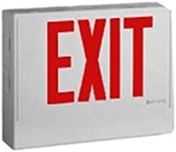 Cooper Lighting LPX7 Self Powered LPX Series LED Exit Sign White Textured Housing Red Letter 120/277 Volt Sure-Lites