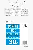 【お買得】HHJ 業務用ポリ袋 30L 透明 0.030mm 800枚 10枚×80冊入 GL33