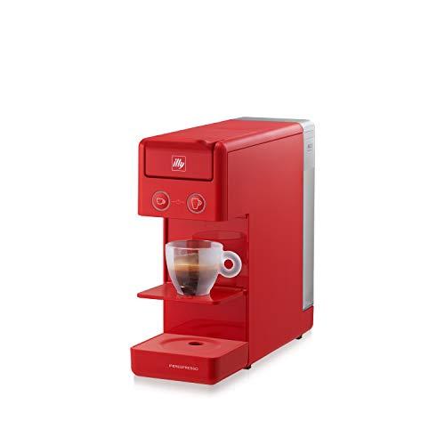 Illy Y3.3 Espresso and Coffee Machine, 12.20x3.9x10.40 (Red)