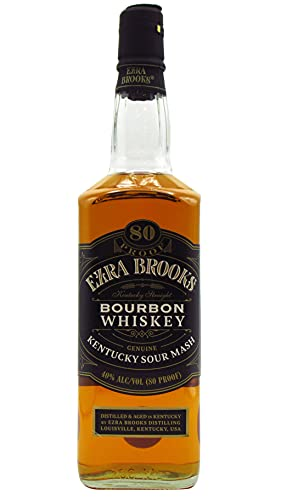 Ezra Brooks - Straight Bourbon Black Label 80 Proof - Whiskey