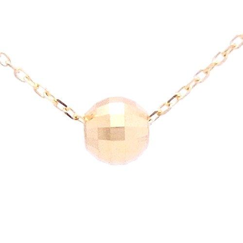 [本間宝石] 18金 ネックレス ミラーボール (日本製アレルギー対応) (小豆チェーン45cm)
