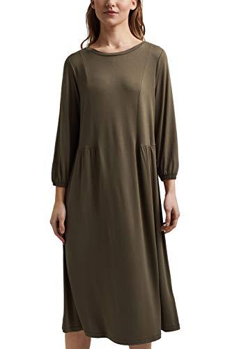 ESPRIT Damen 021EE1E314 Kleid, 350/KHAKI Green, L