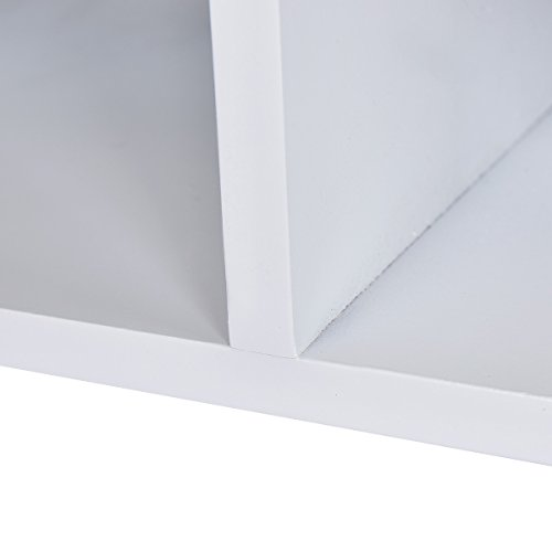 Giantex Wall Mount Coat Rack Storage Shelf Cubby Organizer Hooks Entryway Hallway (White)