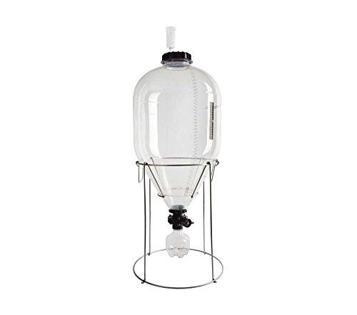 FASTFERMENT Gärbehälter 35 Liter Fermentasaurus Startpaket - für Hobbybrauer Bier vergären und zapfen ohne SauerstoffkontaminationHeimbrauerei