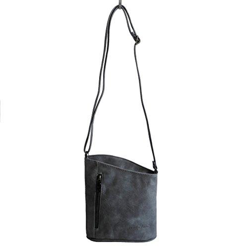 Jennifer Jones - kleine -DamenHandtasche Clutch Umhängetasche Abendtasche Ausgehtasche Schultertasche - präsentiert von ZMOKA® in versch. Farben (Blau)