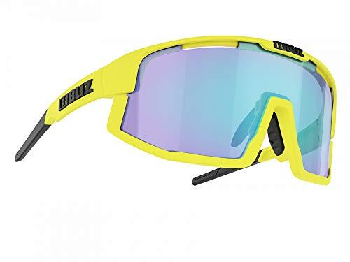 Bliz Vision Sportbrille, matt neon Yellow-Smoke Blue