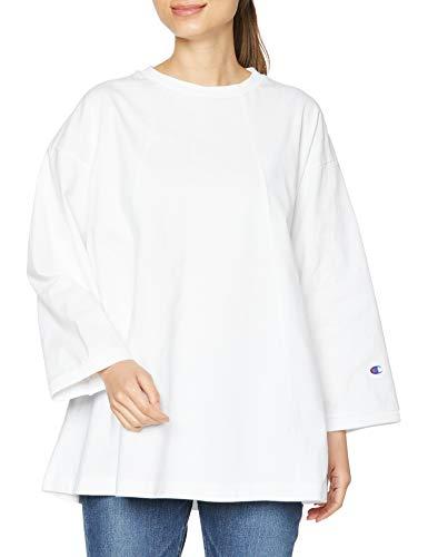 [チャンピオン] ロングTシャツ 綿100% ワンポイントロゴ ロングスリーブTシャツ ウィメンズ CW-T405 ホワイト M
