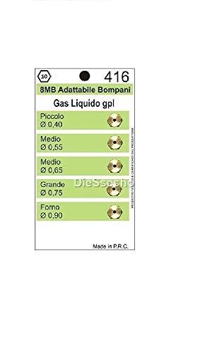 UGELLI INIETTORI CUCINA 4 FUOCHI + FORNO GAS GPL FILETTO 8MB