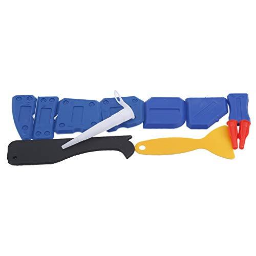 #N/A Huaicheng Mini Plastic Razor Blade Scraper Set Doppelkante Plastic Scraper Tool zum Entfernen von Etiketten Aufkleber Aufkleber,Blau