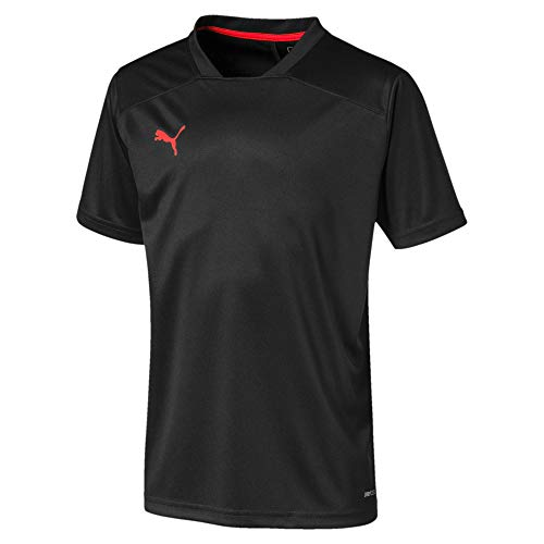 PUMA Jungen ftblNXT Shirt Jr Trikot, Black/NRGY Red, 152