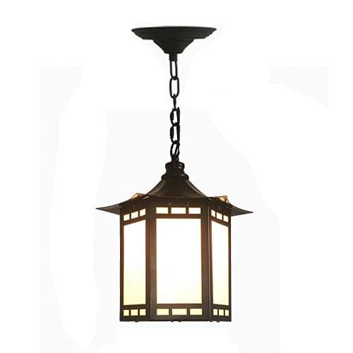 Boilyn Chino, Luz Colgante Impermeable Pabellón Al Aire Libre, Sala De Sol, Lámpara Colgante Marco De UVA Pasillo Lámpara De Araña Altura Ajustable Accesorio Iluminación E27 (Negro)