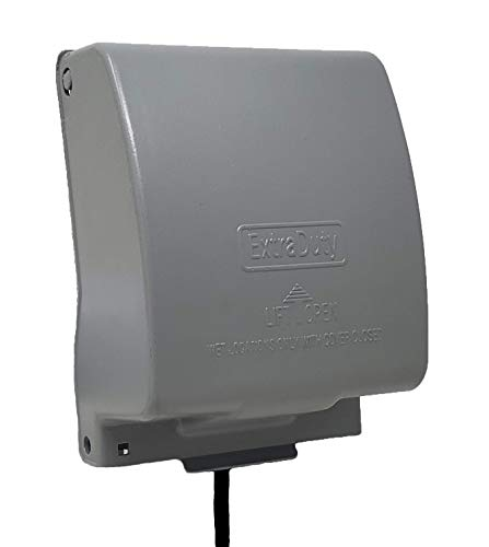 Sealproof 2-Gang Metal Weatherproof Lockable While In Use Outdoor Outlet Receptacle Cover, 31-in-1 Configurations