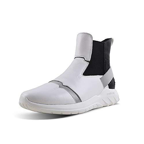 Soulsfeng Heren Chelsea Boots Comfortabele High Top Sneaker