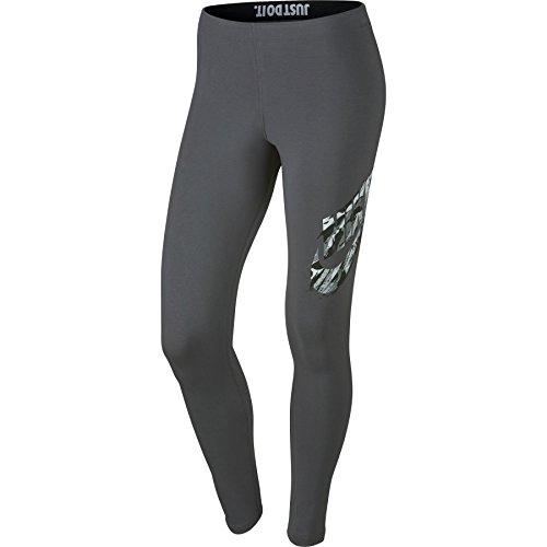 Nike W NSW RCK Garden GX Leggings, Damen L Grau (Dark Grey)