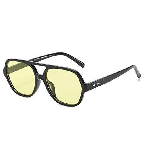 SXRAI Gafas de Sol para Hombre Gafas de Sol cuadradas Gafas de Sol al Aire Libre para Mujer Uv400,C2