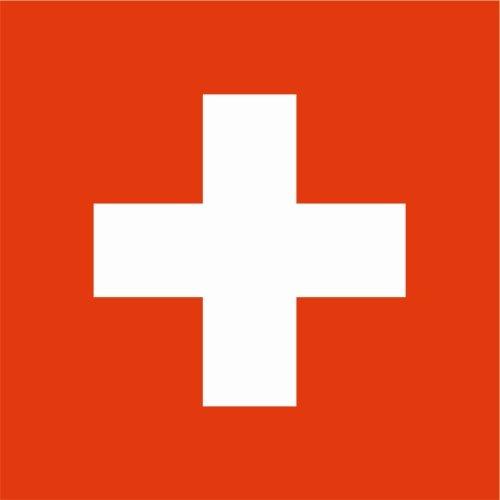 Kiwistar Autoaufkleber Sticker Fahne Flagge Aufkleber 10cm Schweiz laminiert sehr Lange Haltbar