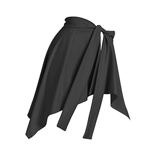 LLSL Falda de Yoga atlética para Mujer, Skorts de Deportes de Secado rápido, Vestido de Danza de lightwear de Encaje, Cobertura de Ropa de Yoga en Las Caderas para Legging/Jeans,Negro