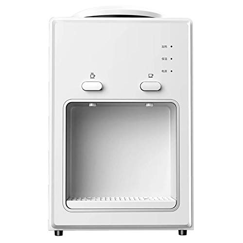 Wensa Wasserkühler Spender Desktop-Wasser-Zufuhr Elektrische Wasserspender Heiß Kalt Aufsatz- Haushalt Kühlung und Heizung Desktop Office,A,Heat