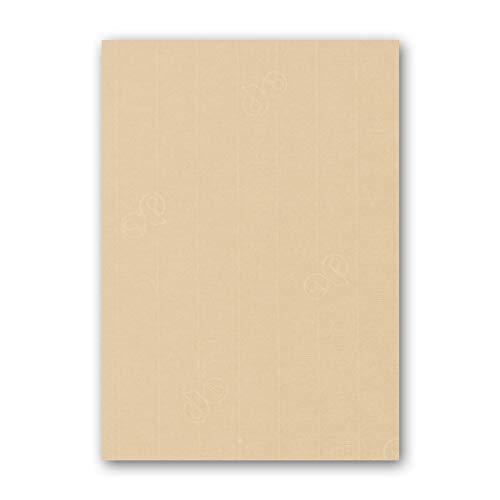 ARTOZ 50x Briefpapier - Baileys (Creme-Braun) DIN A4 297 x 210 mm - Edle Egoutteur-Rippung - Hochwertiges Designpapier Urkundenpapier