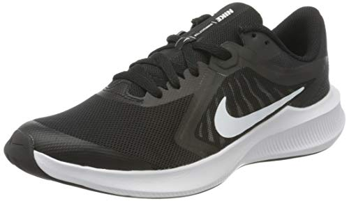 Nike Unisex-Child Downshifter 10 (GS) Running Shoe, Black White Anthracite, 38 EU