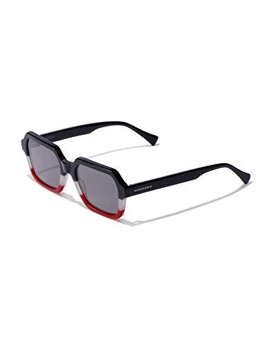 HAWKERS Minimal Gafas de Sol, Negro/Blanco/Rojo, One Size Unisex Adulto
