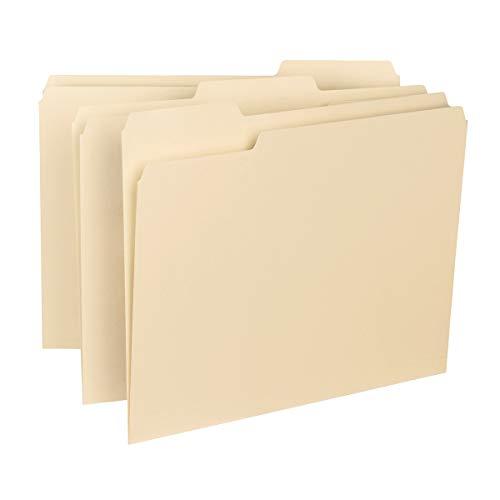 Smead Interior File Folder, 1/3-Cut Tab, Letter Size, Manila, 100 per Box (10230)