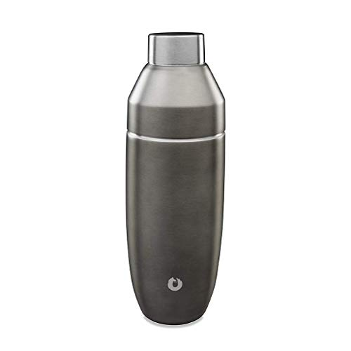 SNOWFOX Double-walled Insulated Stainless Steel Cocktail Shaker 21.9oz), Grey Olive