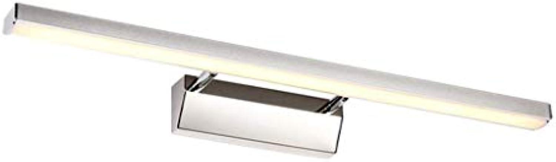 LED-Spiegel der Vorderen Scheinwerfer wasserdicht Beschlagfrei Badezimmer Spiegelschrank Leuchte Make-up-Leuchten Einfache Moderne Wandleuchte (Farbe  Warmes, weies Licht B-50 cm)