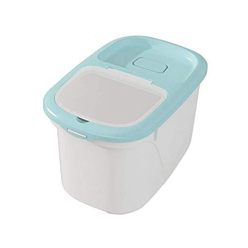FASEY 10kg Grande capacità Rice Container Magazzino, umidità Cereali Granaio di Sicurezza, Cucina organizzatori Cupboard (Color : Green)