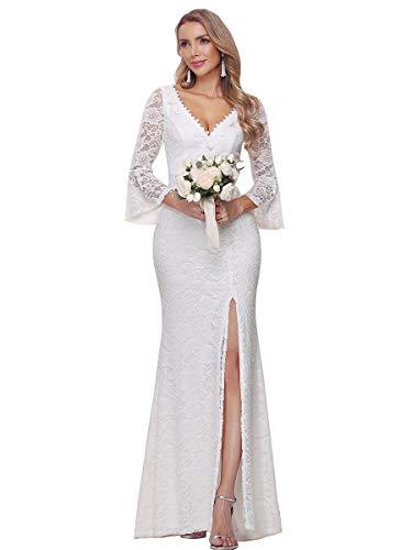 Ever-Pretty Vestidos de Novia Sirena Corte Imperio Abertura