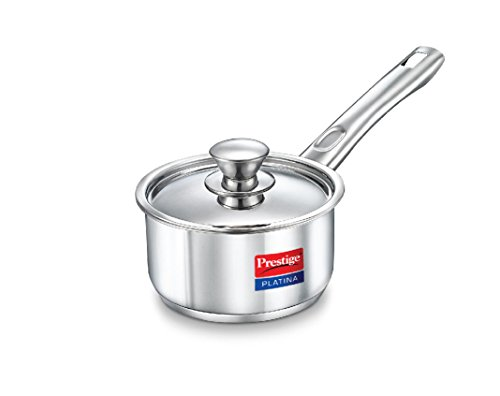Prestige Platina Induction Base Stainless Steel Sauce Pan,...