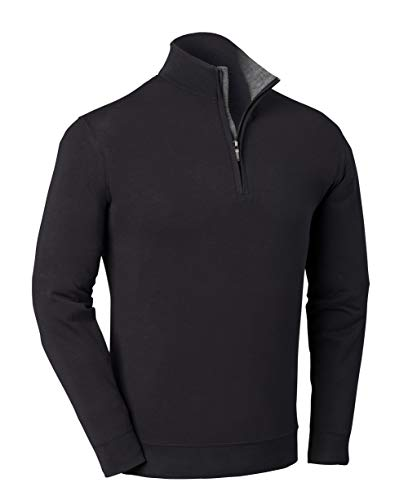Bobby Jones Liquid Cotton Stretch Golf Pullover – Men's 1/4 Zip Pullover Golf Apparel