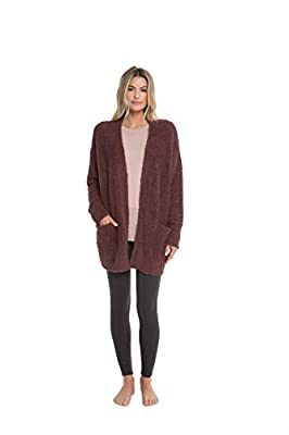 Barefoot Dreams CozyChic Women's So-Cal Cardi with Pockets, Knit Cardigan for Fall and Winter from Barefoot Dreams