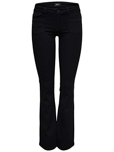 ONLY Damen Bootcut-Jeans ONLEbba Soft 2534Black Denim