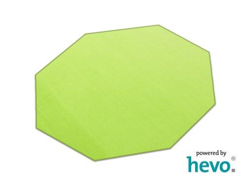 HEVO Romeo grün Teppich   Kinderteppich   Spielteppich 200 cm Achteck