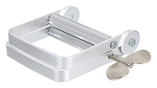 LIXBD Zahnpasta-Presse aus Aluminiumlegierung, Zahnpasta-Spender, Metallrohrwickler für Zahnpasta, Cremes, Farbe, Haarfarbe