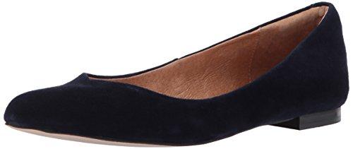 Opportunity Shoes - Corso Como Women's Julia Ballet Flat, Navy Kid Suede, 5.5 Medium US