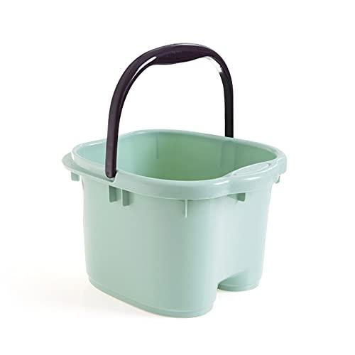 ROTAKUMA Cubo De Plástico Cubo De Baño Cubo De Baño Baño De Baño Baño De Lavado Cubetas De Lavandería Portátil (Color : Green)