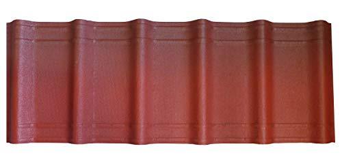 Onduvilla Dachplatte Dachziegel Wellplatte 2,17m² Deckung Farbe: rot