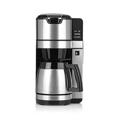 BEEM FRESH-AROMA-PURE Filterkaffeemaschine mit Mahlwerk - Thermo | Permanentfilter | Edelstahl | 1,25 l | 24-Stunden-Timer | 1.100 W (Isolierkanne)