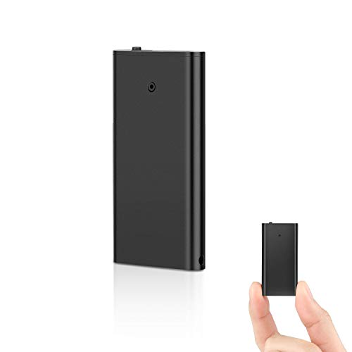 Mini Aufnahmegerät, QZT Mini Diktiergerät Aufnahmegerät 8GB mit Stimmenaktivierung und Kopfhörer Klein Tonaufnahmegerät MP3 Player für Lernen und Hören