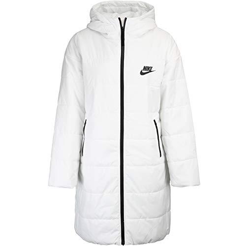 Nike Synthetic Fill Women Parka Wintermantel (L, White/Black)