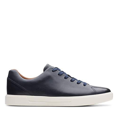 Clarks Herren Un Costa Lace Sneaker, Blau (Navy Leather), 43 EU