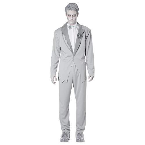 GAOJUAN Halloween Cosplay Kostüm Adult Cosplay Leiche Zombie Bräutigam Geist Braut Weiß Kostüm Geeignet Für Karneval Thema Parteien Halloween Neujahr Festival