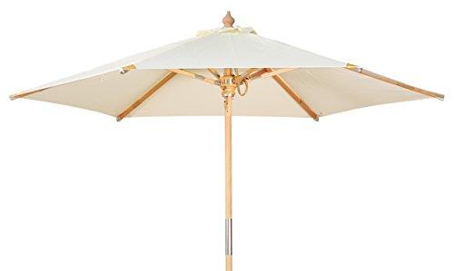 Kai Wiechmann Premium Sonnenschirm Sunshine Luxus ø 240 cm weiß Windauslass UV-Schutz 50+