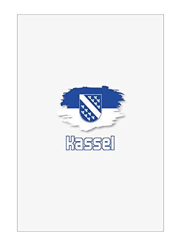 Tipolitografia Ghisleri Handtuch, Strandtuch, Handtuch Kassel mit Flagge 33